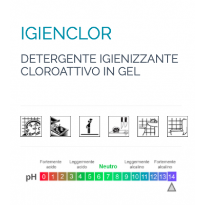 Detergente Igienizzante Cloroattivo in Gel