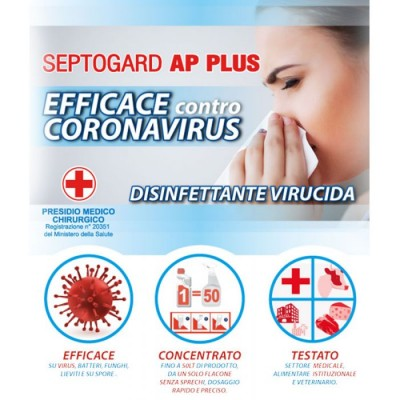 Disinfettante per Superfici Septogard Ap Plus - 2 Flaconi + 2 Nebulizzatori